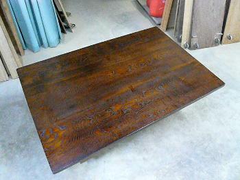 長テーブル塗り後2