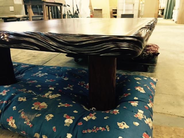 テーブル木口