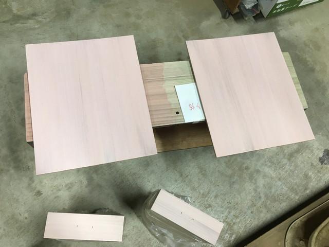 ピンクに着色