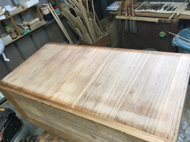桐たんすの背板