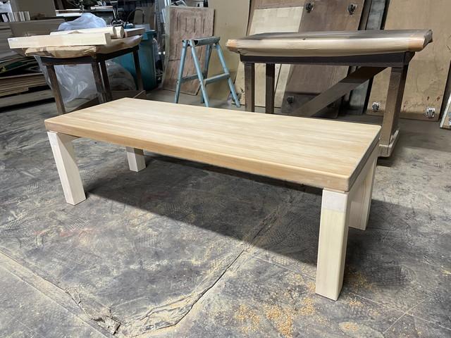テーブルの脚製作